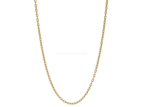 Elizabeth Locke 35″ Hammered Oval Link Necklace