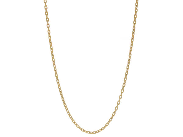 """Elizabeth Locke 35"""" Hammered Oval Link Necklace thumbnail"""