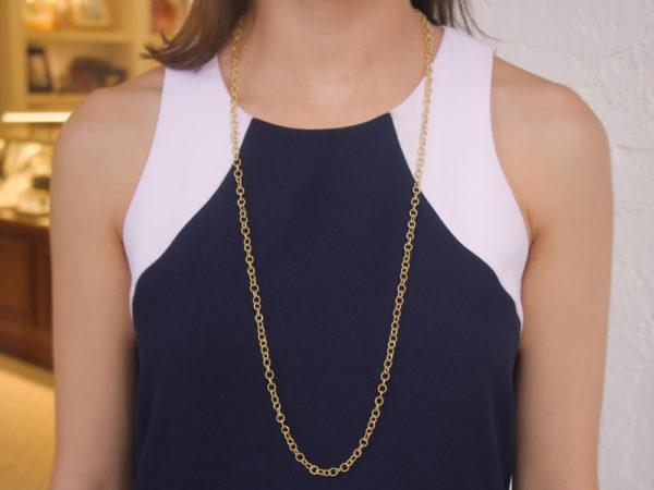 """Elizabeth Locke 35"""" """"Sicilian"""" Link Necklace"""