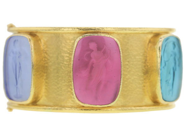 Elizabeth Locke Venetian Glass Intaglio Muse Bangle thumbnail