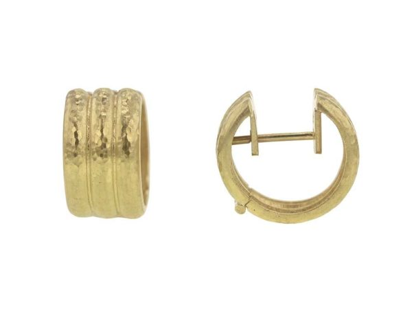 Elizabeth Locke Banded Hoop Earrings thumbnail
