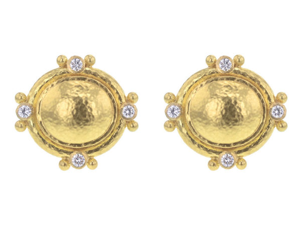 Elizabeth Locke Oval Studded Earrings thumbnail