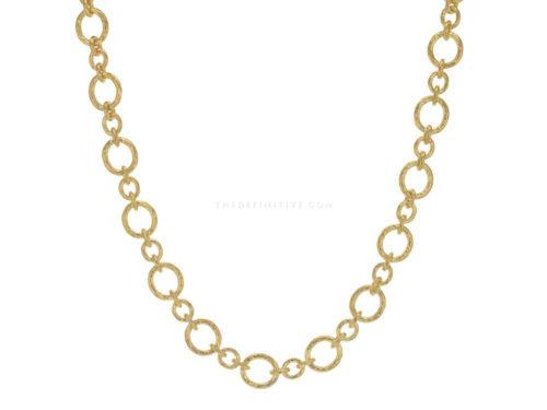 """Elizabeth Locke 17″ """"Riviera"""" Link Necklace"""