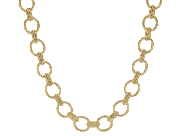 """Elizabeth Locke 17"""" """"Lampedusa"""" Link Necklace With Braided Connectors thumbnail"""