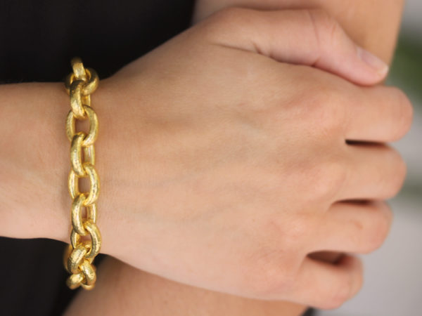 "Elizabeth Locke ""Ancona"" Link Bracelet"
