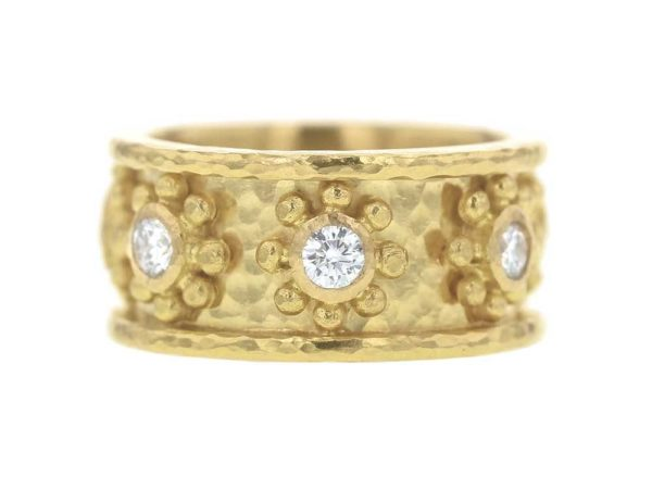 "Elizabeth Locke ""Daisy"" Diamond Flat Band Ring thumbnail"