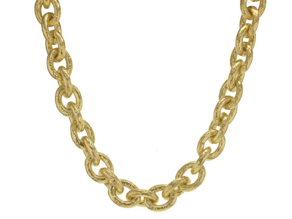 Elizabeth Locke 17″ Large Oval Link Necklace thumbnail