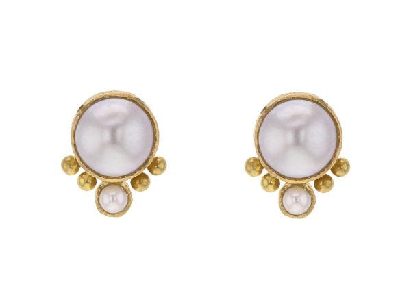 Elizabeth Locke Mabe Pearl Stud Earrings thumbnail