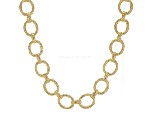 "Elizabeth Locke 17″ ""Smooth"" Link Necklace"