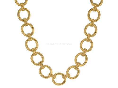 """Elizabeth Locke 17″ """"Elba"""" Link Necklace"""