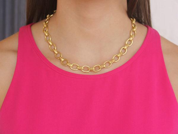 "Elizabeth Locke 17"" ""Bolzano"" Link Necklace"