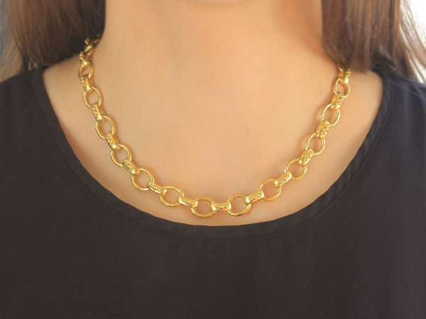 "Elizabeth Locke 17"" ""Bolzano"" Link Necklace model shot #1"