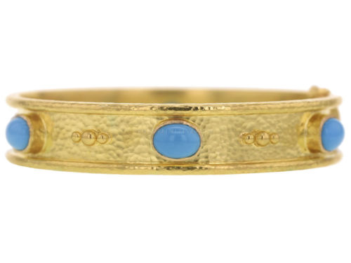 Elizabeth Locke Turquoise Bangle Bracelet