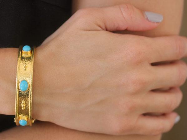 Elizabeth Locke Turquoise Bangle Bracelet