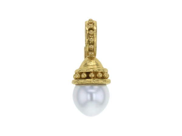 Elizabeth Locke South Sea Pearl With Granulated Cap & Bale Pendant thumbnail