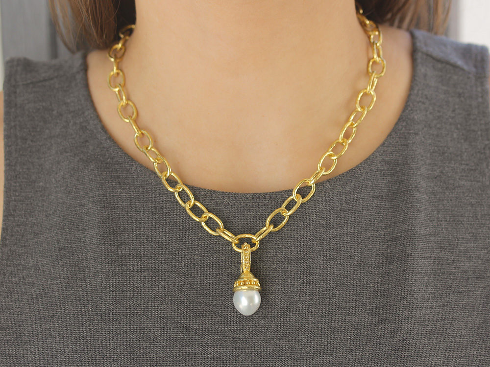 Elizabeth locke south sea pearl with granulated cap bale pendant aloadofball Gallery