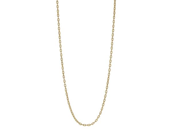 """Elizabeth Locke 35"""" Hammered Handmade Oval Link Necklace model shot #2"""