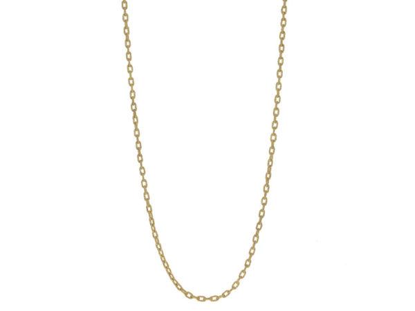 "Elizabeth Locke 35"" Hammered Handmade Oval Link Necklace thumbnail"