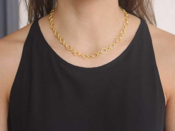 """Elizabeth Locke 17"""" """"Riviera"""" Link Necklace"""