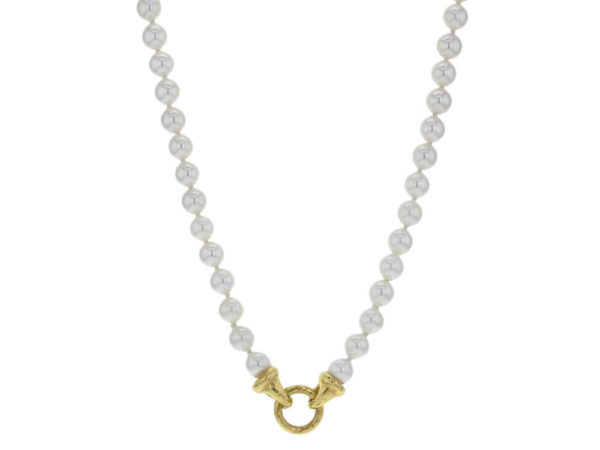 """Elizabeth Locke 35"""" """"Serena"""" Clasp With Freshwater Pearl Necklace thumbnail"""