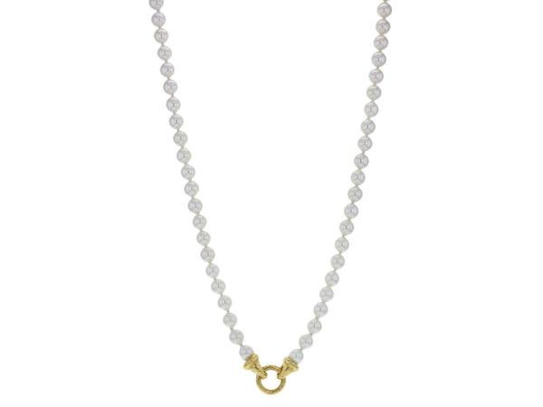 "Elizabeth Locke 35"" ""Serena"" Clasp With Freshwater Pearl Necklace model shot #2"