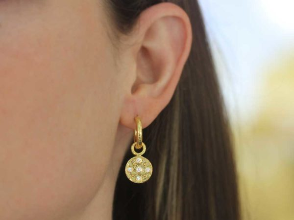 Elizabeth Locke Gold and Diamond Earring Charms