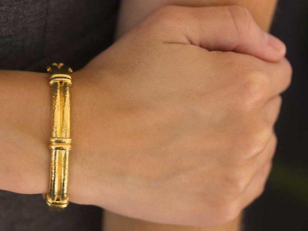 Elizabeth Locke Banded Bangle Bracelet