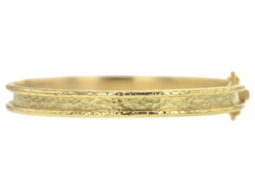 Elizabeth Locke Flat Narrow Bangle Bracelet