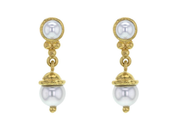 Elizabeth Locke Akoya Pearl Drop Earrings thumbnail