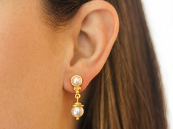 Elizabeth Locke Akoya Pearl Drop Earrings