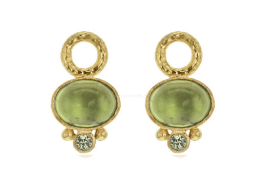 Elizabeth Locke Oval Peridot Earring Charms