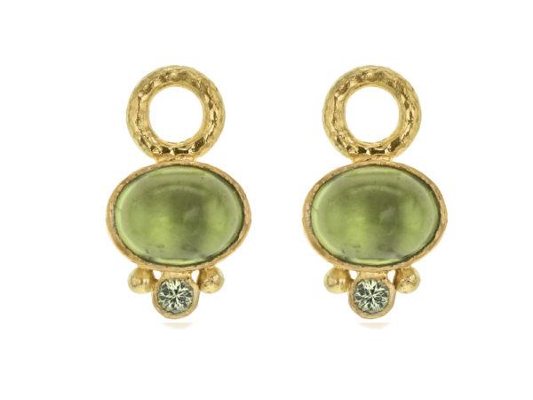 Elizabeth Locke Oval Peridot Earring Charms thumbnail