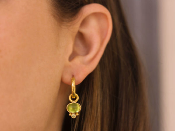 Elizabeth Locke Oval Peridot Earring Charms
