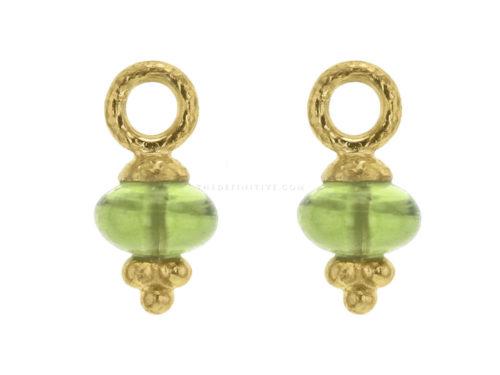 Elizabeth Locke Oval Cabochon Peridot Bead Earring Charms