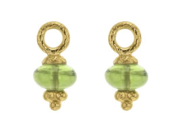 Elizabeth Locke Oval Cabochon Peridot Bead Earring Charms thumbnail