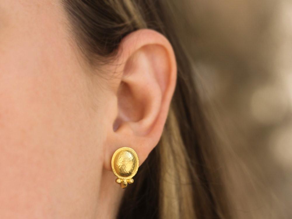 Elizabeth Locke Sarabella 19k Gold Earrings uDmOu