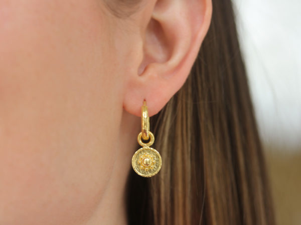"Elizabeth Locke Gold ""Daisy"" Earring Charms"