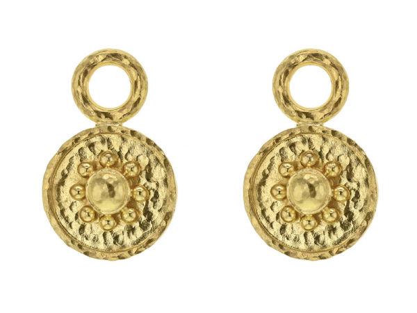 "Elizabeth Locke Gold ""Daisy"" Earring Charms thumbnail"