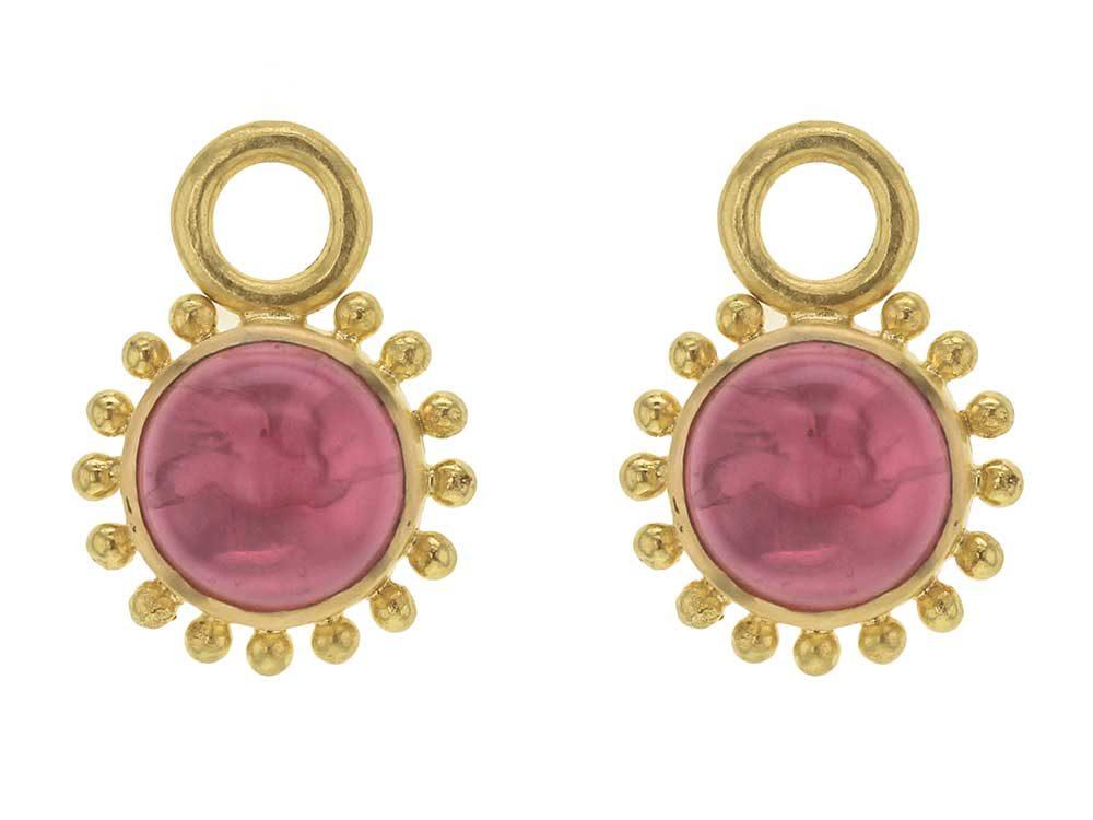 Elizabeth Locke Pink Venetian Glass Earring Pendants Gidyjmq
