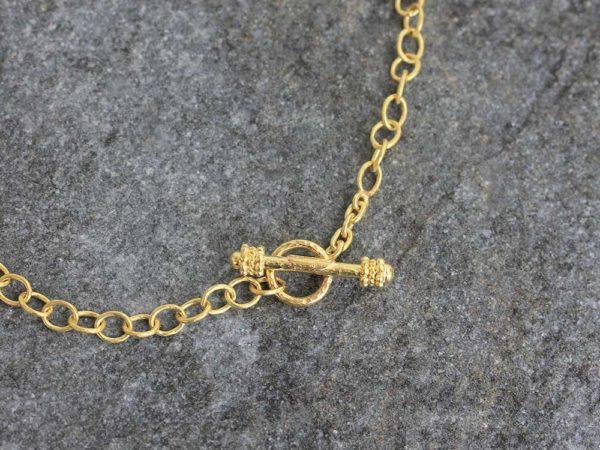 "Elizabeth Locke 21"" ""Tiny Volterra"" Link Necklace model shot #2"