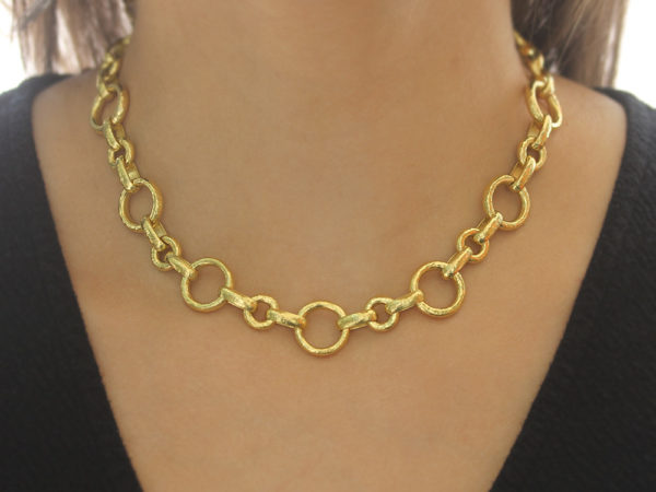 "Elizabeth Locke 17"" Large ""Siena"" Link Necklace"
