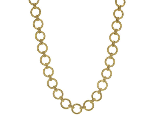 "Elizabeth Locke 21"" ""Farnese"" Large Hammered Link Necklace thumbnail"