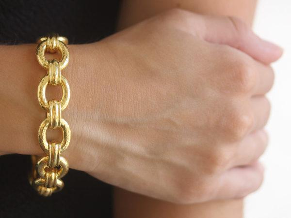"Elizabeth Locke ""Borghese"" Link Bracelet with Banded Connectors and Hidden Closure"