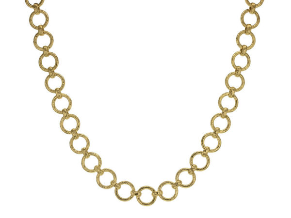 "Elizabeth Locke 17"" ""Farnese"" Hammered Link Necklace thumbnail"