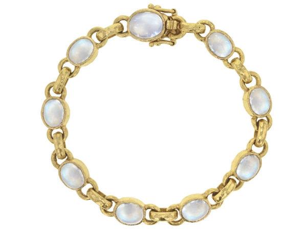 Elizabeth Locke Oval Cabochon Moonstone Link Bracelet thumbnail