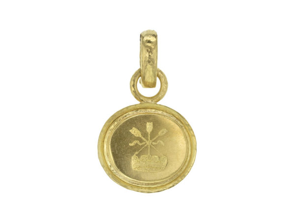 "Elizabeth Locke Gold ""Arrow and Castle"" Seal in ""Athenian"" Bezel Pendant thumbnail"