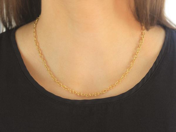 "Elizabeth Locke 17"" ""Tiny Volterra"" Link Necklace"