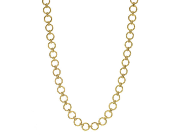 "Elizabeth Locke 21"" ""Farnese"" Small Hammered Link Necklace thumbnail"