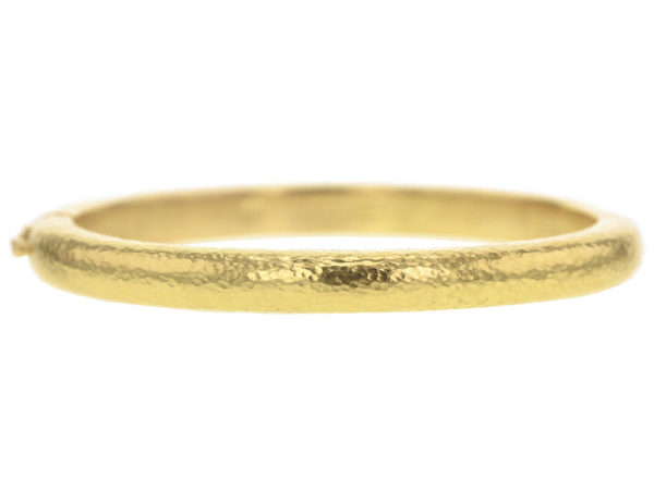 Elizabeth Locke Gold Domed Bangle Bracelet thumbnail