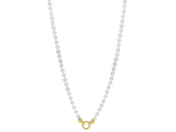 "Elizabeth Locke 35"" ""Serena"" Clasp Necklace With 6.5mm to 7mm Freshwater Pearls thumbnail"